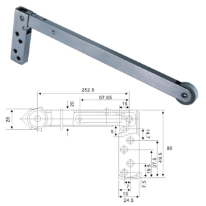 Selector de puerta de acero inoxidable 304 SSS Closer Door (DEC-007)